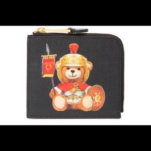 Authentic Moschino Teddy Bear eco-leather pouch